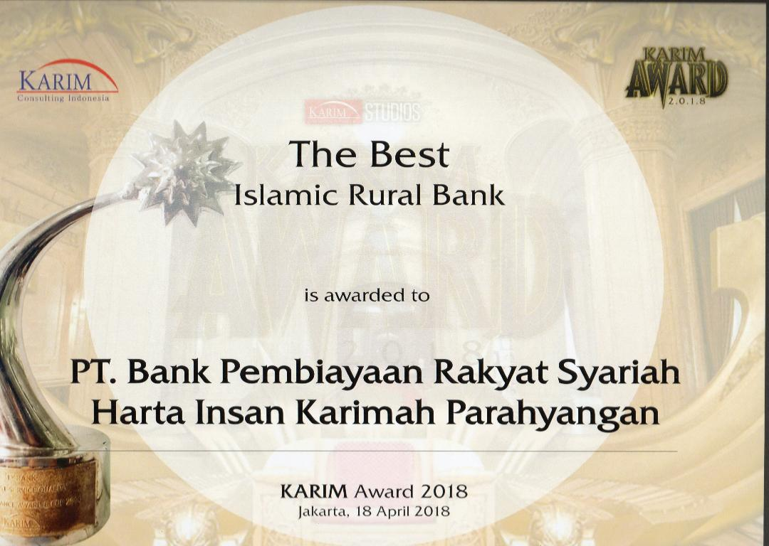 The Best Islamic Rural Bank - Karim Consulting Award